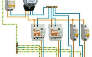 Схема подключения дифференциального автомата – советы электрика