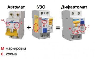 Маркировка узо и дифавтоматов – советы электрика