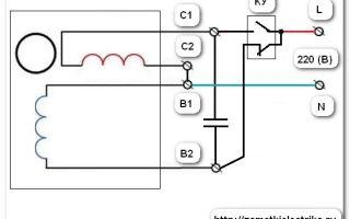 Схема однофазного двигателя – советы электрика