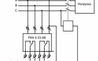 Реле контроля напряжения 1 фазное схема подключения – советы электрика