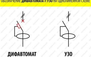 Обозначение дифавтомата на схеме – советы электрика