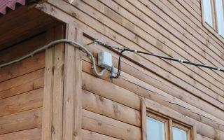 Ввод кабеля в деревянный дом – советы электрика