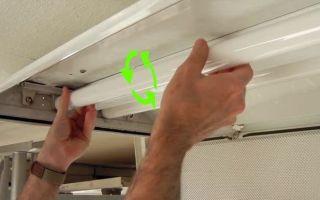 Замена люминесцентной лампы – советы электрика