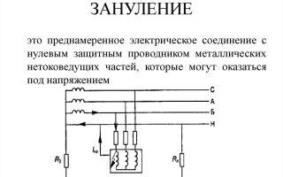 Защитное зануление это – советы электрика