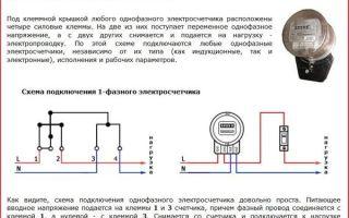 Подсоединение счетчика однофазного – советы электрика