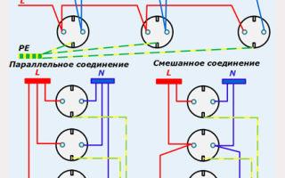 Подключение розеток параллельно или последовательно – советы электрика