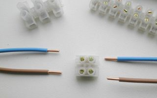 Соединение проводов с помощью зажимов – советы электрика