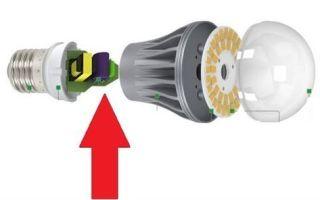 Ремонт светодиодных ламп – советы электрика
