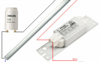 Подключение люминесцентной лампы – советы электрика