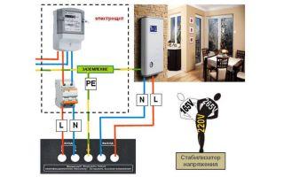 Подключение стабилизатора напряжения схема – советы электрика