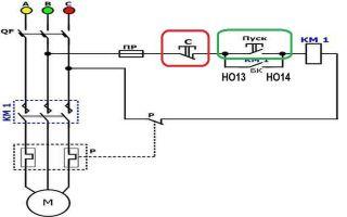 Подключение трехфазного двигателя через магнитный пускатель – советы электрика