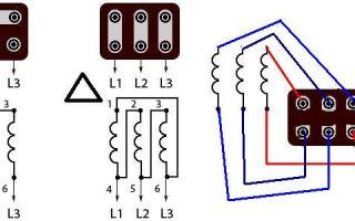 Подключение электродвигателя звездой и треугольником – советы электрика