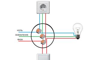 Подключение выключателя и розетки от одного провода – советы электрика