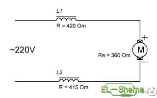 Схема подключения коллекторного двигателя переменного тока 220в – советы электрика
