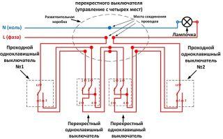 Перекрестный переключатель схема подключения – советы электрика