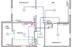 Электрика в двухкомнатной квартире схема – советы электрика