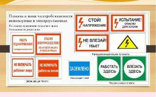 Виды плакатов в электроустановках – советы электрика