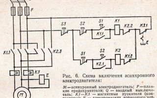 Схема управления трехфазным асинхронным двигателем – советы электрика