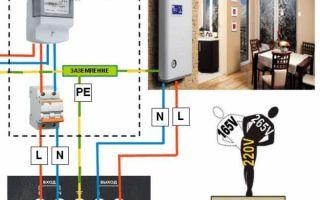 Схема подключения стабилизатора – советы электрика
