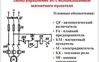 Обозначение пускателя на схеме – советы электрика