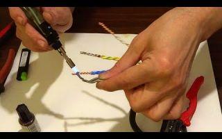 Пайка проводов паяльником – советы электрика