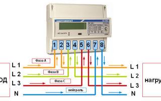 Как подключить 3 фазный счетчик – советы электрика