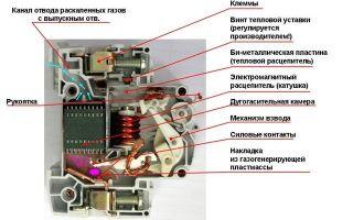 Устройство автоматического выключателя – советы электрика