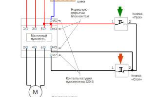 Магнитный пускатель 220в схема подключения – советы электрика