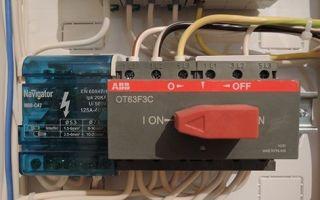 Переключатель сеть генератор – советы электрика