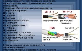 Классификация кабелей и проводов – советы электрика