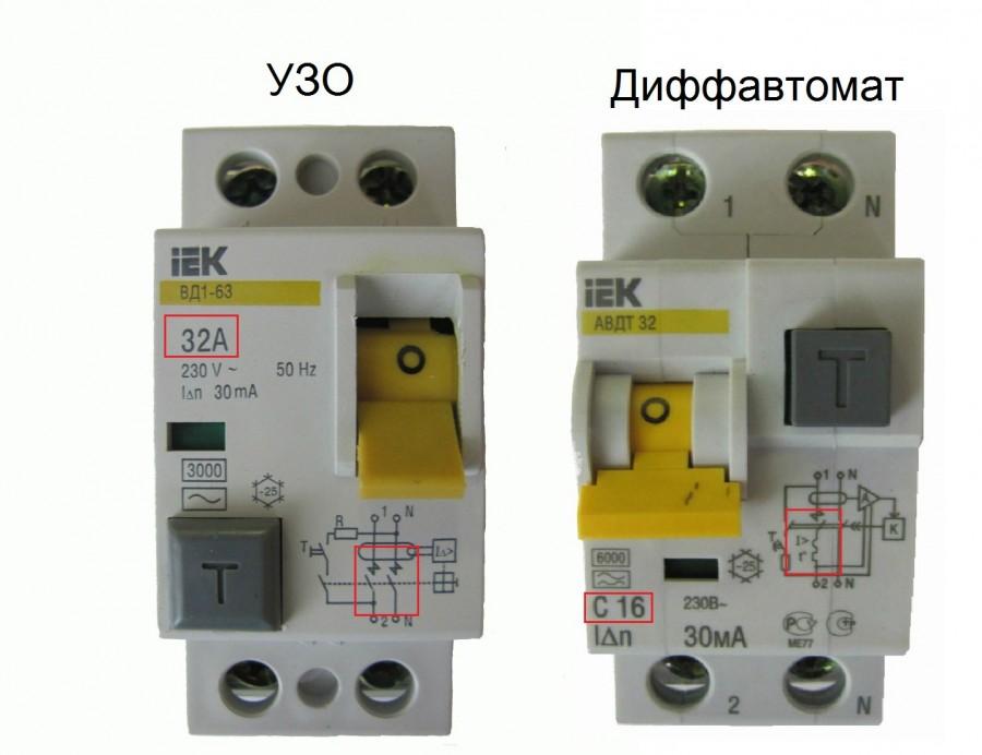 сколько модулей занимает дифавтомат