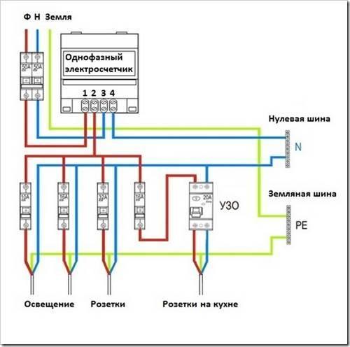 Установка электросчетчика своими руками правила требования схемы